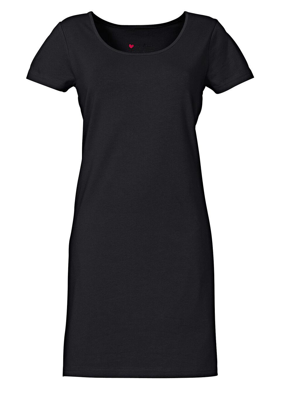 Платье-стретч с коротким рукавом
