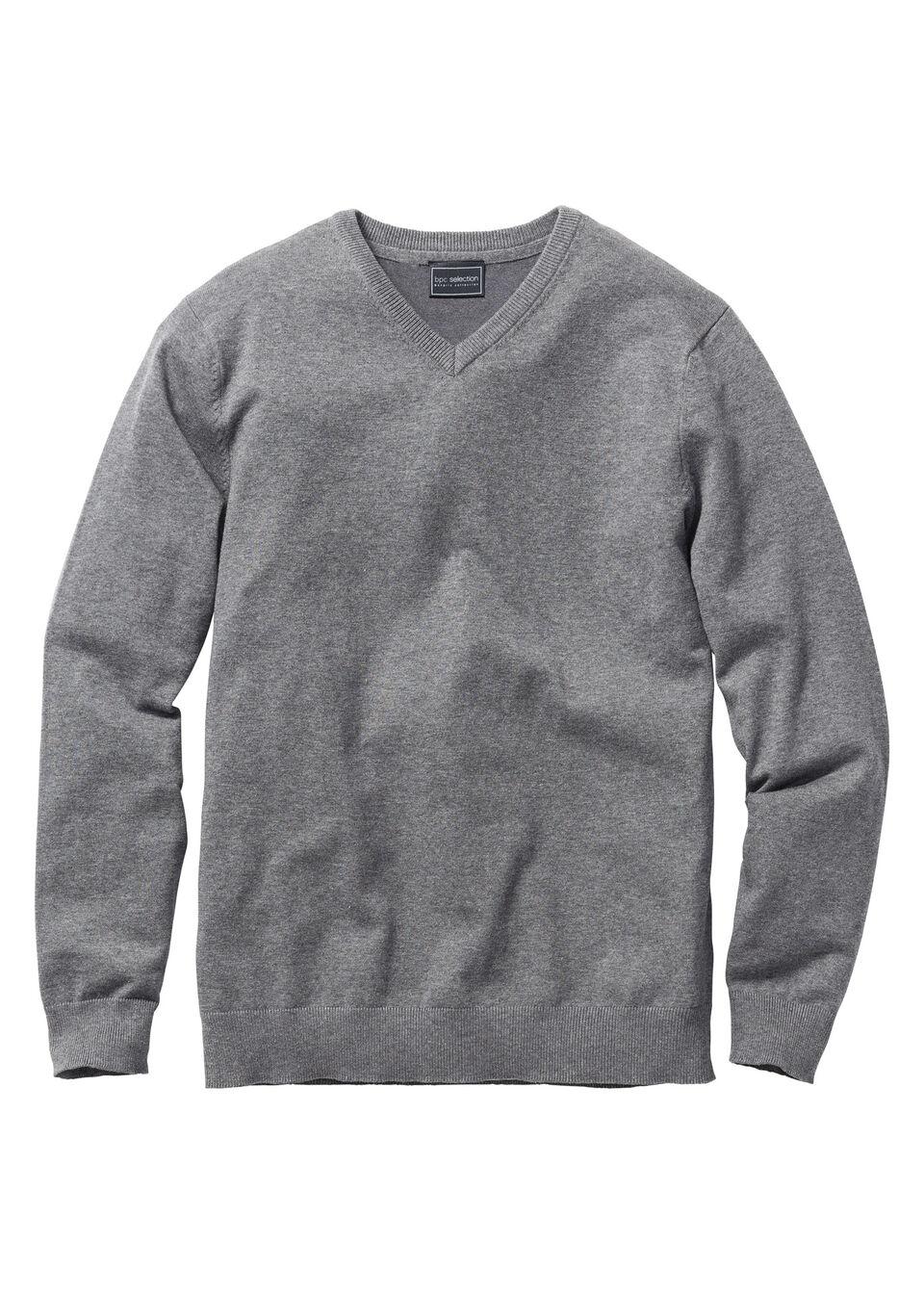 Пуловер Regular Fit с V-образным вырезом