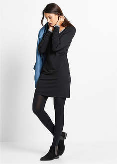 Трикотажное платье-стретч с длинным рукавом-bpc bonprix collection