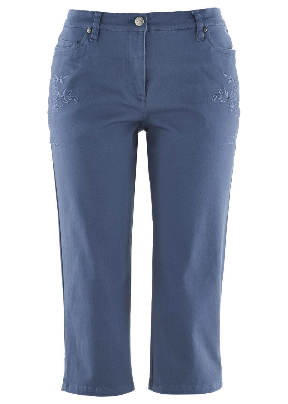 Эластичные брюки-капри