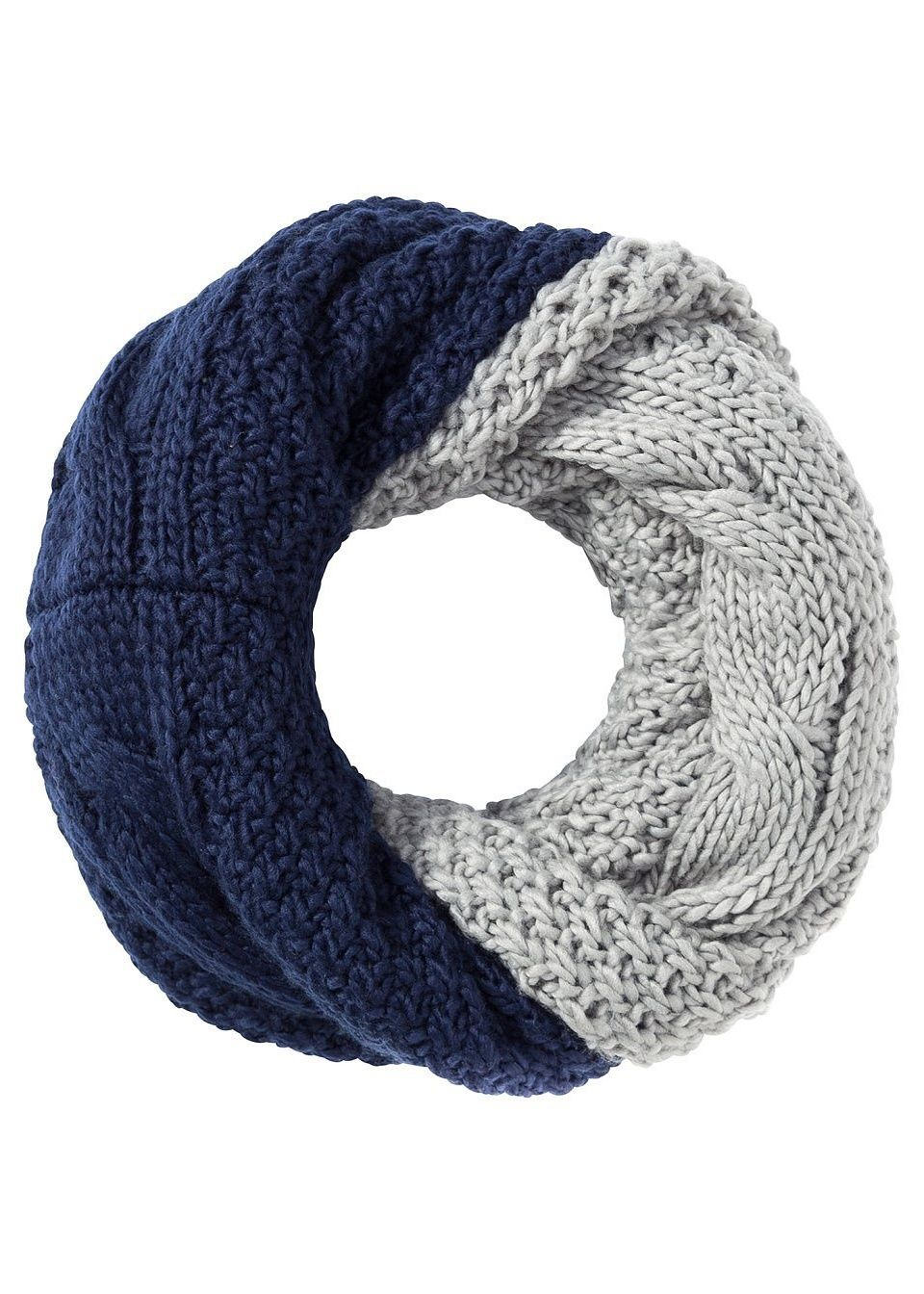 Двухсторонний шарф-снуд